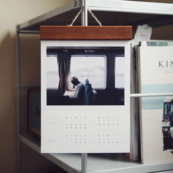 印簿玩 木製夾掛曆