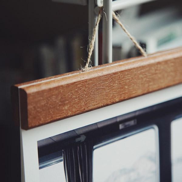 印簿玩 木製夾掛曆 2